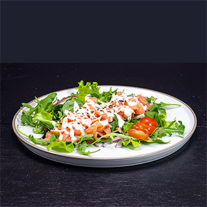 Foto Smoked salmon salad